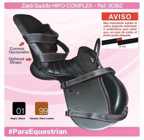 Zaldi Hipo-Comples saddle - saddle for disabled riders
