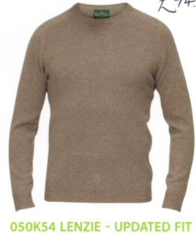 100% Crew Neck Lambswool Pullover by Alan Paine - Updated Fit - Style  050K54 - Lenzie