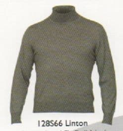 100% Merino Wool Roll Neck Sweater by alan Paine -Updated Fit - Total Easy Care - Linton-128S66