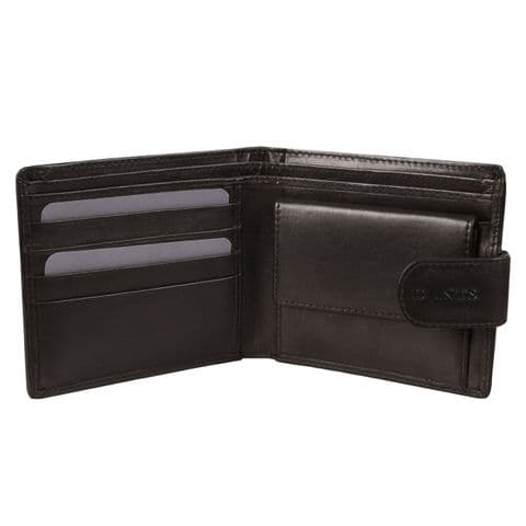 Black Leather Wallet by Dents - 23-5018