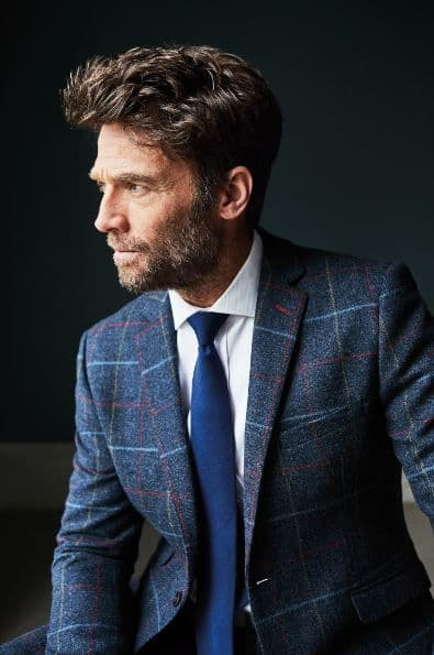 Blue Tweed Jacket by Brook Taverner - 3869A - The Haincliffe