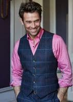 Blue Tweed Waistcoat by Brook Taverner - 1562A - The Haincliffe