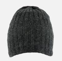 Knitted Charcoal Beanie Hat by Dents - 5-4040