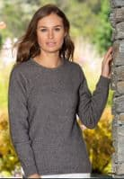 Women's Possum Blend Crew Neck Pullover by Noble Wilde