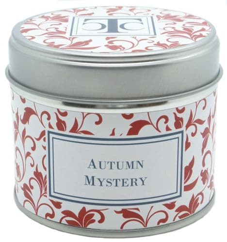 Autumn Mystery Scented Candle Tin 35 hour