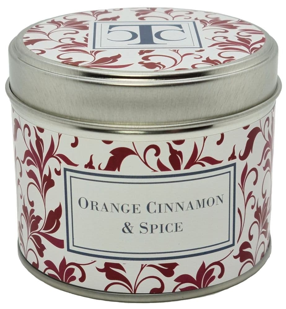 Orange Cinnamon Spices Scented Candle Tin 35 hour
